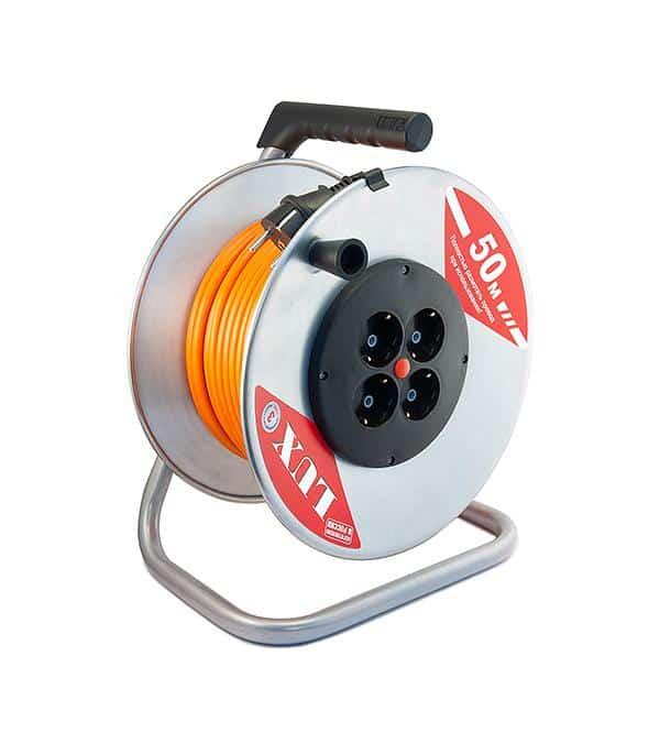 Силовой удлинитель на металлической катушке Inforce К4-Е-50